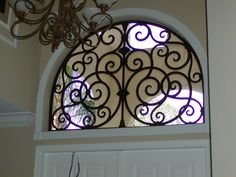 Faux iron gives this window a new look