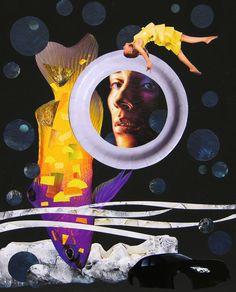 _ondine_ collage on cardboard, Ondine, Collage Artwork, Surreal Art, Paper Art, Saatchi Art, The Originals, Products, Mariana, Papercraft