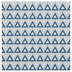 Blue Tribal Triangle Fabric by Stickelberry