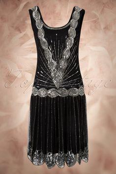 20s Zelda Flapper Dress in Black