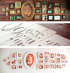 "I like the ""before"" top picture the best. A collection of empty frames."