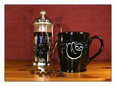 Sloth Coffee Mug - Etched 17 oz Coffee Mug - Large Tea Cup - Ceramic Coffee Mug - pinned by pin4etsy.com