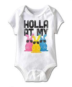 White 'Holla' Bodysuit - Infant