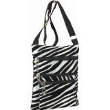 Black and White Zebra Striped Crossbody Handbag (Apparel)  #MileyCyrus #melaniexeinalem