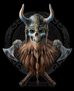 Anne Stokes, Beautiful Fantasy Art, Beautiful Fairies, Viking Meaning, Vikings, Wolf, Creepy Tattoos, Gothic Fairy, Dark Gothic