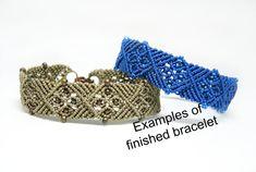 Micro Macrame Tutorial  Gothic Tracery Bracelet di KnotJustMacrame