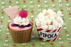 SORVETE e PIPOCA CUPCAKES by bbcupcakes, via Flickr
