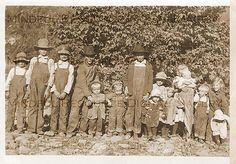 Clan of 15 Farm Children Vintage Photo Large Family 1900s Family Picture Brothers Sisters Snapshot Printable Digital Download Sepia by mindfulresource