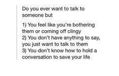 I suck at conversing