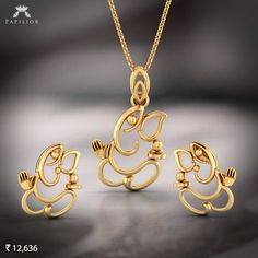 Buy Gold Pure Ganesha Pendant Set with Yellow Gold different sizes, designs , pattern and easy to buy at budget price. Gold Pendent, Pendant Set, Mens Gold Jewelry, Gold Jewellery, Jewelery, Silver Jewelry, Silver Rings, Best Jewelry Designers, Jewellery Sketches