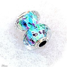 Pandora Faceted Sea Glass Murano's Exclusive to the US blue/green/purple #MyPandora