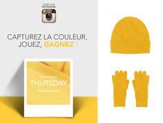 """Comme nous, laissez-vous inspirer par la couleur """"Vitamine"""" et tentez de remporter des pièces Eric Bompard en #cachemire. Jouez à #Bompardcolor sur Instagram du 4 au 18 décembre 2014."""
