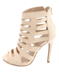 Laser Cut-Out Single Sole Heels: Charlotte Russe
