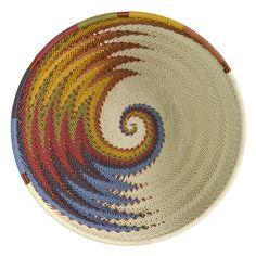 """Amazon.com: Fair Trade Zulu Telephone Wire 6.5"""" Round Bowl, White Desert: Home & Kitchen"""