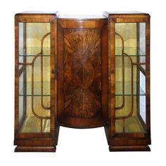 art deco   LA Vintage Furnishings – Detail of Walnut Art Deco Bookcase - SOLD