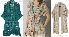 Precioso Saquito Tejido a Crochet para mujer