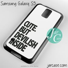 Cute But Devilish Inside Phone case for samsung galaxy S3/S4/S5