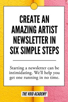 I'm so scared of finally setting up and sending out my art business mailing list - this list from Void Academy has really helped me nail all the basics Best Email Marketing, Business Marketing, Online Marketing, Business Advice, Business Planning, Online Business, Business Education, Business Management, Craft Business