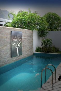 Having a pool sounds awesome especially if you are working with the best backyard pool landscaping ideas there is. How you design a proper backyard with a pool matters. Small Swimming Pools, Small Pools, Swimming Pools Backyard, Swimming Pool Designs, Backyard Landscaping, Landscaping Ideas, Luxury Swimming Pools, Small Backyard Design, Small Backyard Pools