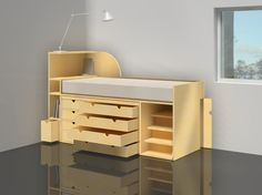 concept for a desk and bed storage combination Bed Storage, Design Projects, Desk, Concept, Furniture, Home Decor, Art, Other, Art Background