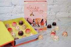 Stick With Me Chocolate — Lisk Feng Dessert Packaging, Box Packaging, Packaging Design, Dessert Boxes, Dessert Ideas, Truffle Recipe, Handmade Chocolates, Food Design, Design Ideas