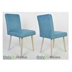 Krzesło Bergen w tkaninie Casablanca 2313. Zapoznaj się z naszą ofertą mebli tapicerowanych na onlymyhome.pl  ____________________________________ #Krzesło #Bergen #scandinavian  #stylskandynawski #design #inspiration #house #homedecor #instahome #instachair #dopokojudziecka #scandinaviandecor #scandinavianstyle #niebieski #Krzesło #Fotel #pufa #photooftheday  #meble #tapicerowane #onlymyhome