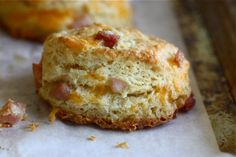 Ham and Cheese Buttermilk Biscuits    Think of it like almost like a ham and cheese sandwich but in biscuit form!    I'm thinking that this flaky biscuit is perfect for your weekend. Perfect for right now.