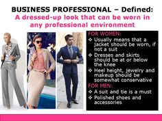 Business Professional Dress Code Defined
