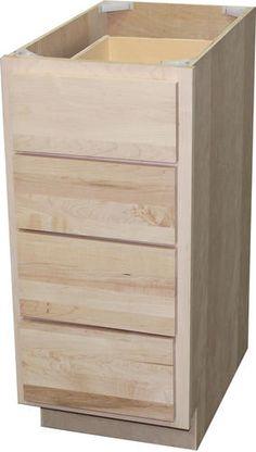Quality One 12 x 3412 Unfinished Oak Base Cabinet with Drawer at Menards  Shouse  Base