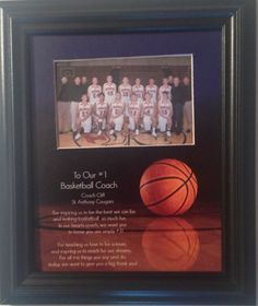 basketball coach gift appreciation gift a great coach is