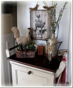 Clever artwork idea for 75 cents w/tutorial (from Gail's Decorative Touch)