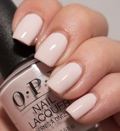 Lisbon Wants Moor by OPI - got this as a manicure at Lan Salon. It is a blush pink creme, almost white. Blush Nails, Dusty Pink Nails, Neutral Nails, Opi Gel Polish, Gel Polish Colors, Opi Nails, Opi Shellac, White Nail Polish, Pink Nail Colors