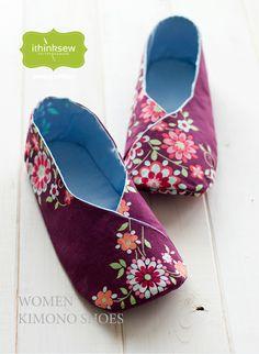 Woman's Kimono Shoes Paper Pattern