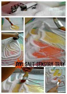 sensory idea. sensory activities are an important part of preschool. Toddler Preschool, Toddler Crafts, Preschool Crafts, Vbs Crafts, Toddler Learning, Toddler Fun, Preschool Alphabet, Classroom Activities, Preschool Activities