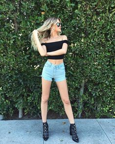 Designer Clothes, Shoes & Bags for Women Alissa Violet Style, Alissa Violet Outfit, Summer Outfits, Casual Outfits, Cute Outfits, Fashion Outfits, Womens Fashion, Fashion Trends, Foto Casual