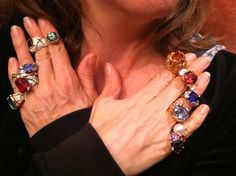 """""""Once is not Enough"""" for Cynthia Renee Full Custom jeweled rings."""