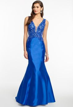 Mikado beaded prom d