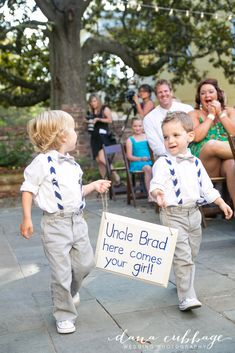 Striped Suspenders Ring Bearers -- Jayme + Brad