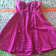Urban Outfitters dress Strapless magenta dress with cute bow detail at the top Urban Outfitters Dresses