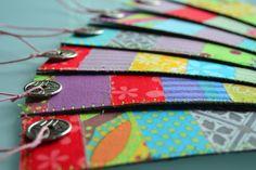 Marque-pages en tissus colorés et pièces chinoises : Marque-pages par les3sardines