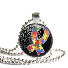 Silver Plated Pendant  Autism Awareness by NowThatsCharming, $14.99