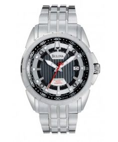 Bulova Precisionist Silver Dial Stainless Steel Mens Watch (96B172) Bulova Watches, Watches For Men, Stainless Steel, Silver, Men's Watches, Money