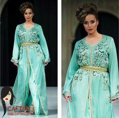 Robe caftan haute couture ornée 2015