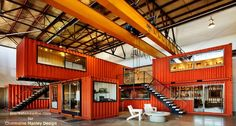 Back in 2009, I read an article about shipping containers used as offices inside…