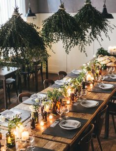 rustic, nature-inspired dining