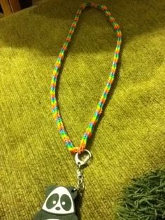 I made a rainbow loom fishtail lanyard for my flash drive I luv it!!