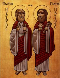The Apostles Peter and Paul - coptic icon