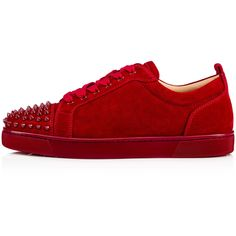 Sneakers (2.955 BRL) ❤ liked on Polyvore featuring shoes, sneakers, red sneakers, red shoes and red trainers