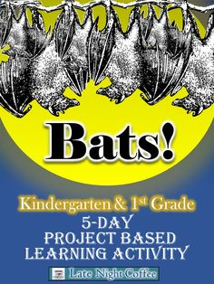 Project Based Learning Activity-Kindergarten & First Grade : ntroduce your class to the world of bats and let them become mini bat scientists! This project based learning activity helps them understand the importance of bats in our environment and Teaching Activities, Teaching Science, Daily Activities, Teaching Ideas, Teaching Resources, 1st Grade Science, Kindergarten Science, Preschool, Montessori