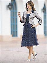 Silver Dots Jacket Dress | Drapers